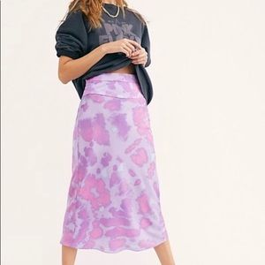Free People Blueberry Combo Tie Dye Skirt 12 NWT